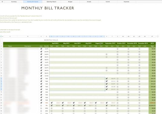 Monthly Bill Tracker